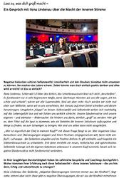 Interview mit Ilona Lindenau lass zu was dich gross macht